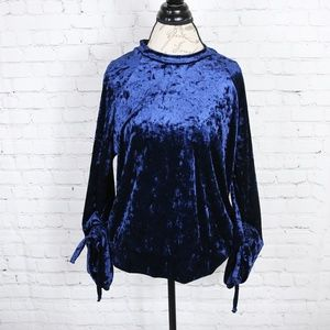 Ro & De Crushed Velvet Sweatshirt